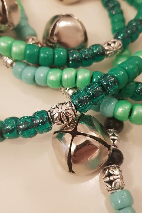 Close up on Bells on Tyson Green Rhythm Beads