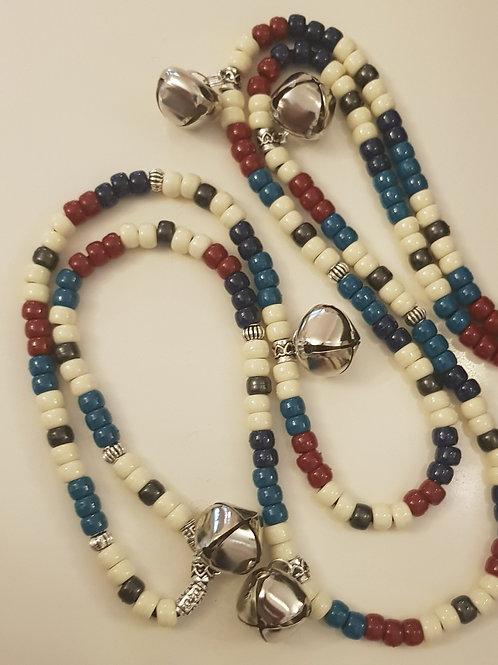 Red blue and Cream Big Skies Rhythm Beads