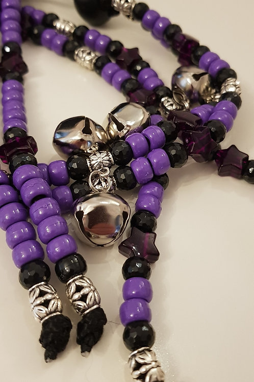 Midnight Rhythm Beads for horses bells and silver beads