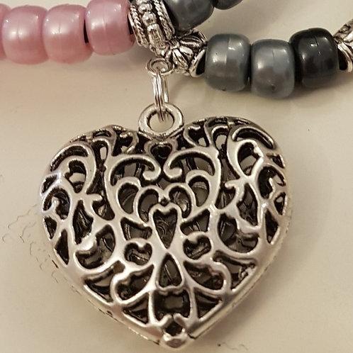 Large filigree Heart Mystic Rhythm Beads by Time Bandit