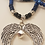 Close up detail of centre pendant Tyson Blue Rhythm Beads
