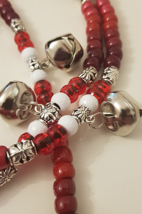 Tyson Rhythm Beads white faceted beads