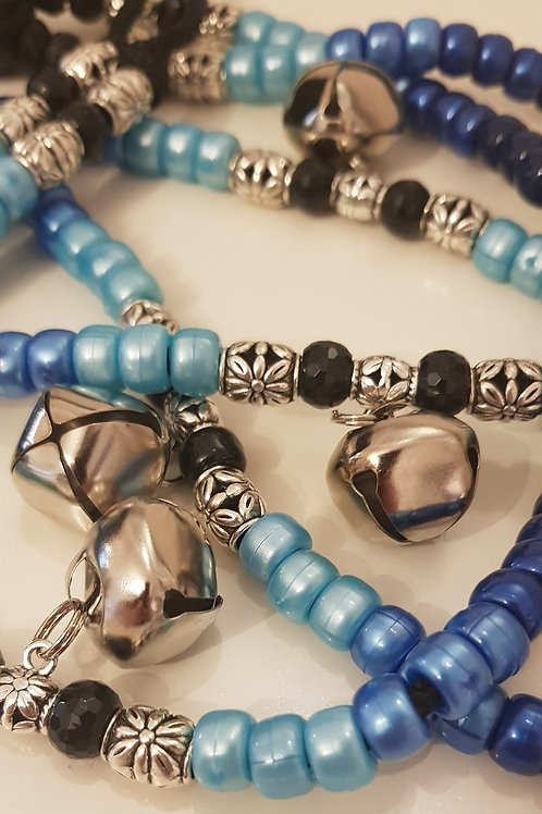 Close up Tyson Blue Bells and accent beads