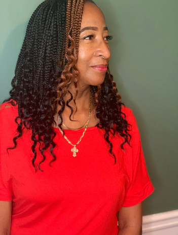 Crochet Braids and lashes