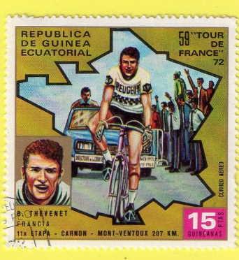 """Et le timbre """"B.T. 1972"""" n'est pas d'ici."""