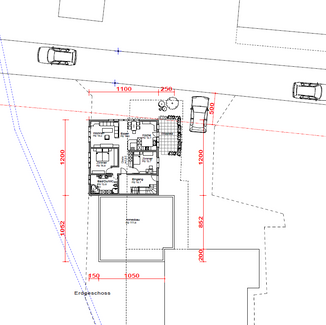 Auftrag: Bebauungsstudie Objekt: Einfamilienhaus Ort: Heiden AR