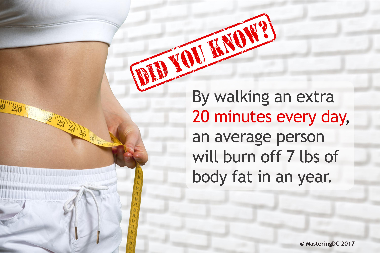 Walking 7 pounds