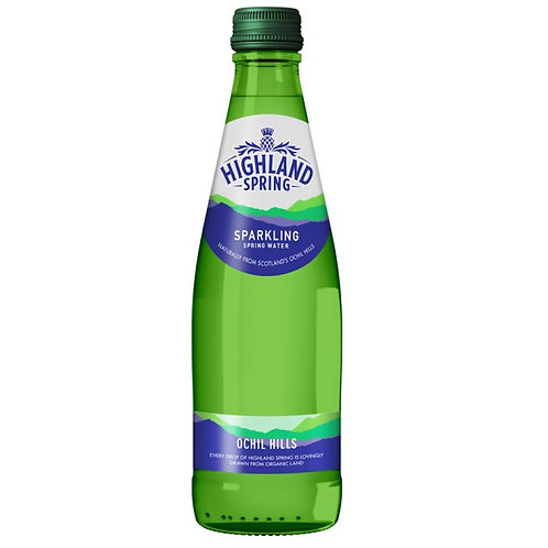 Highland Spring Sparkling Water (Glass)-330ml