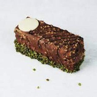 Hazelnut & Pistachio Chocolate Slice