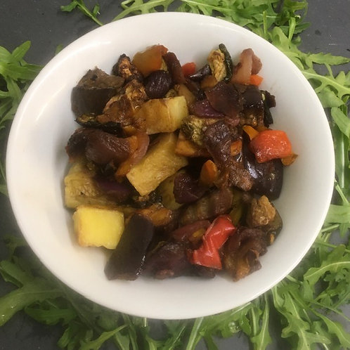 Brie And Roasted Vegetables Jacket Potat