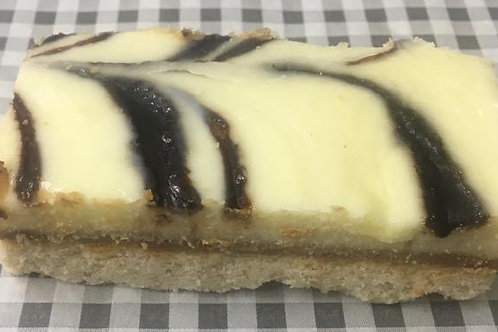 White  Chocolate Caremel Slice
