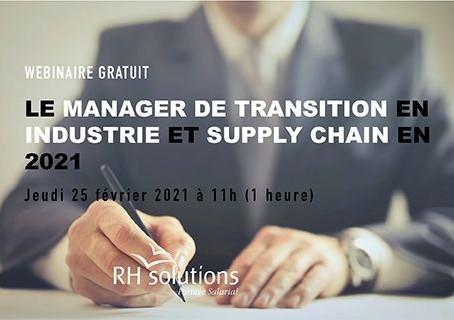 Le manager de transition en Supply Chain