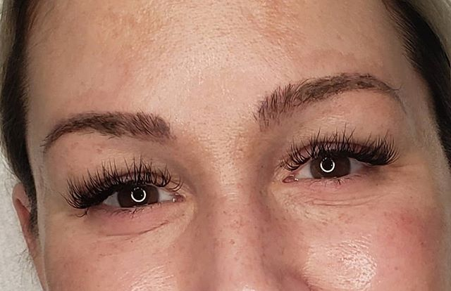 Healed brows and lash fill! #lashextensi