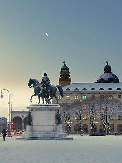 Odeonsplatz im Schnee