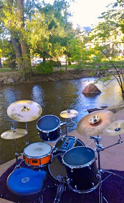 I play, down by the river