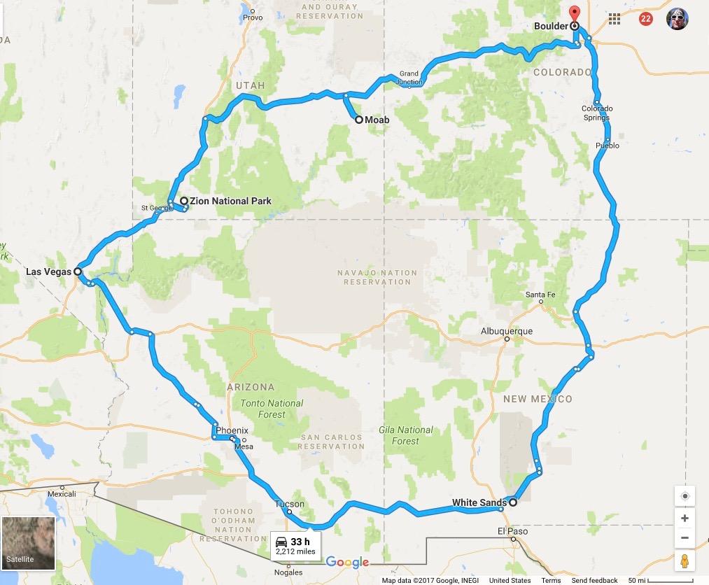 33 hour road trip