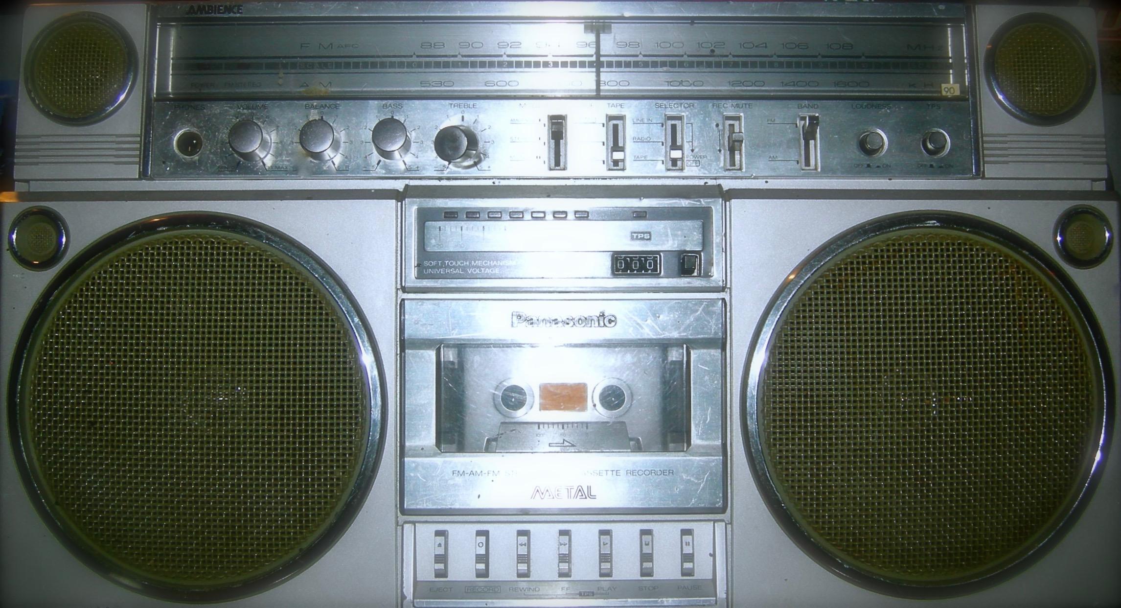 Classic 80s boom box