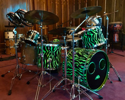 Fleece wrapped drums