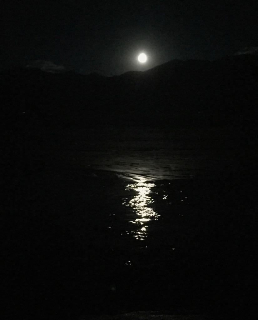 Moon over Medano