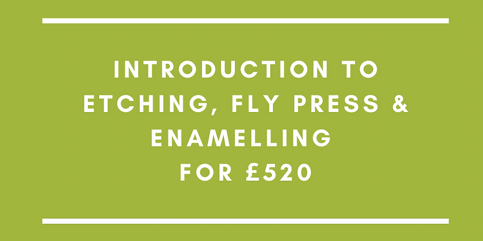 Summer School: Introduction to Etching, Fly Press and Enamelling for £520