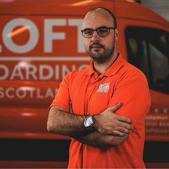 Andrew Johnstone, Entrepreneur and owner of Loft Boarding Scotland