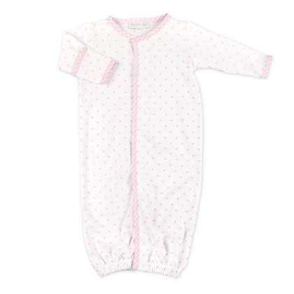Convertible Layette Gingham Dot -Pink