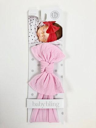 Baby Bling Headband -Light Pink Solid