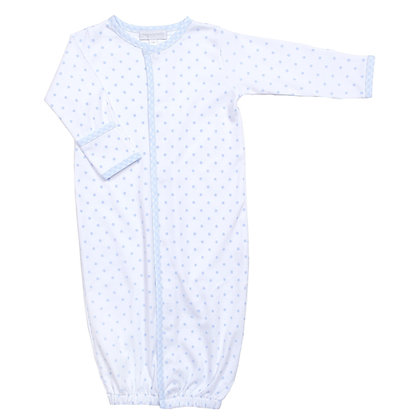 Convertible Layette Gingham Dot - Blue