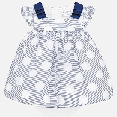 MAYORAL DOT DRESS WITH DIAPER COVER