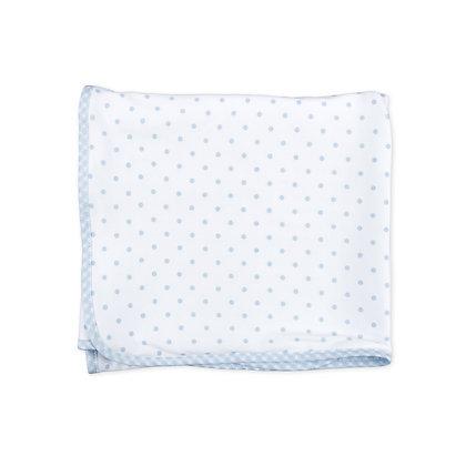 Gingham Dot Receiving Blanket