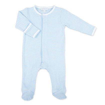 Printed Stripe Footie - Blue
