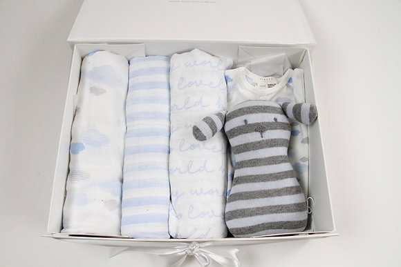 Newborn Boy 'Firsts' Gift Box Set