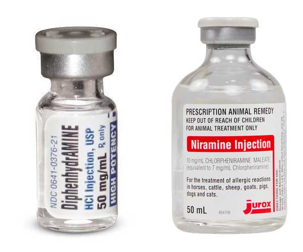 Injection Diphenhydramine and Chlorpheniramine