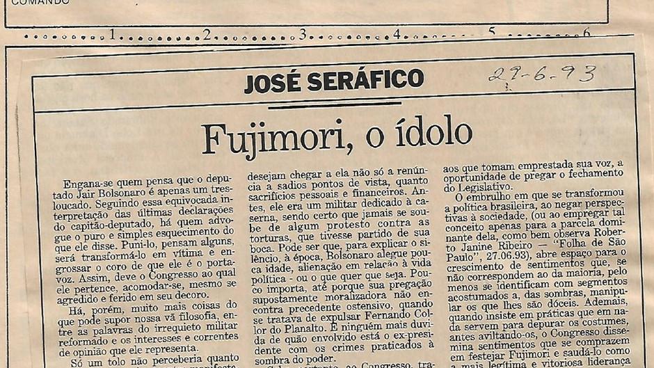 Fujimori, o ídolo