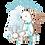 Thumbnail: Tiffany blue winter baby vest and bib combo