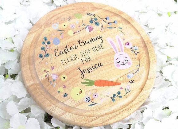 Wodden Easter treat board- Floral design