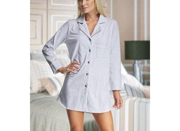 Alexa  grey cotton nightshirt- Adult