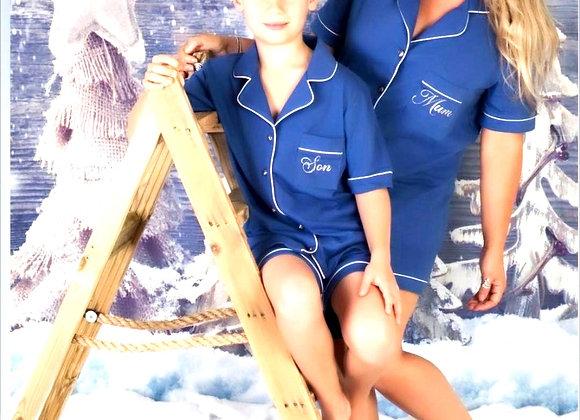 Alexa Cotton  Pjs blue