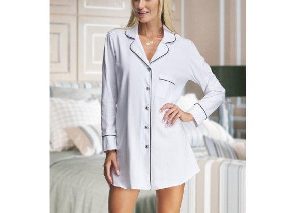 Alexa  white cotton nightshirt- Adult