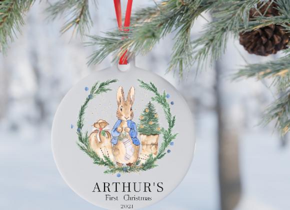 Peter Rabbit 1st Christmas  decoration/ bespoke gift