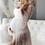 Thumbnail: Pearl tulle maternity robe for boudoir shoot
