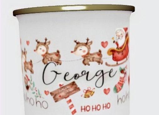 Christmas Doodle  Personalised  Enamel Mug