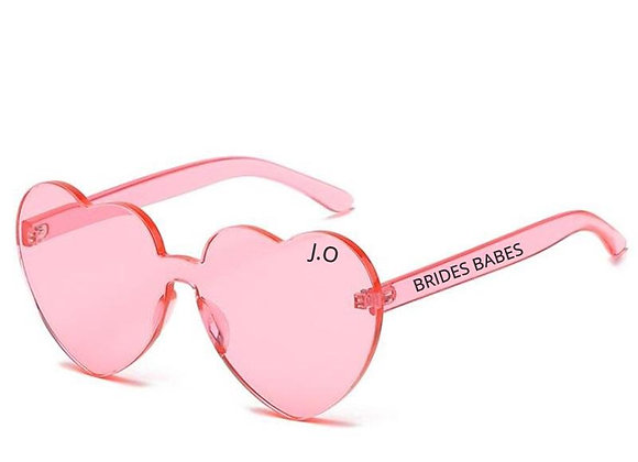 Brides Babes personalised heart sunglasses