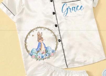Peter rabbit inspired Easter pyjamas