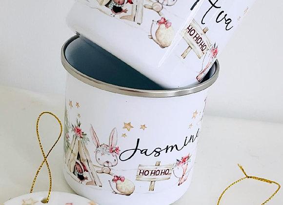 Enchanted woodland  enamel mug