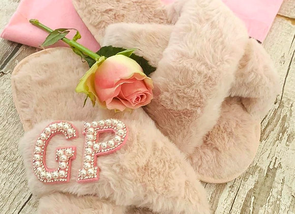 Personalised snuggle slippers-blush