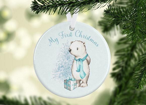 First Christmas  Tiffany blue....Tree ornament