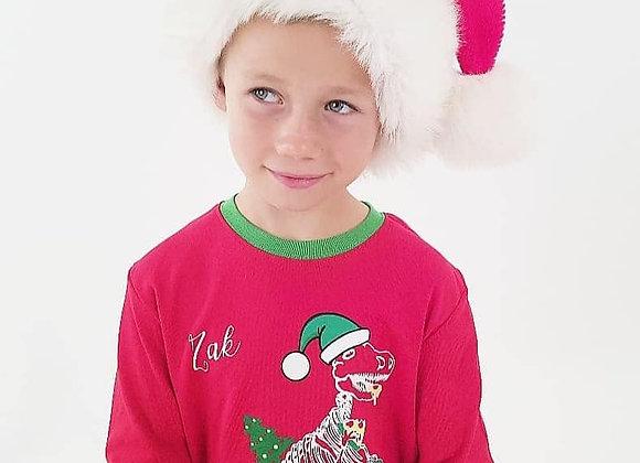 Festive Dino childrens pjs