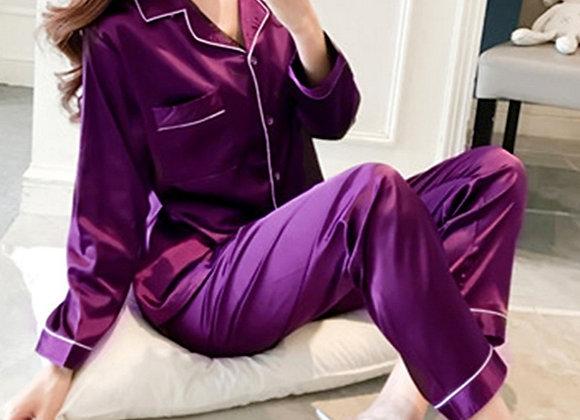 copy of Alexa  pjs- satin  full length purple