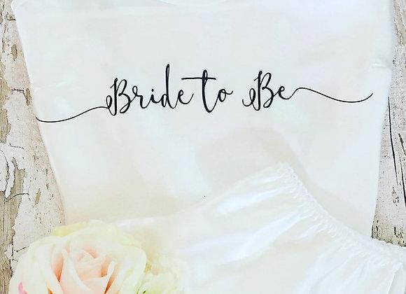 Bride to be satin cami set